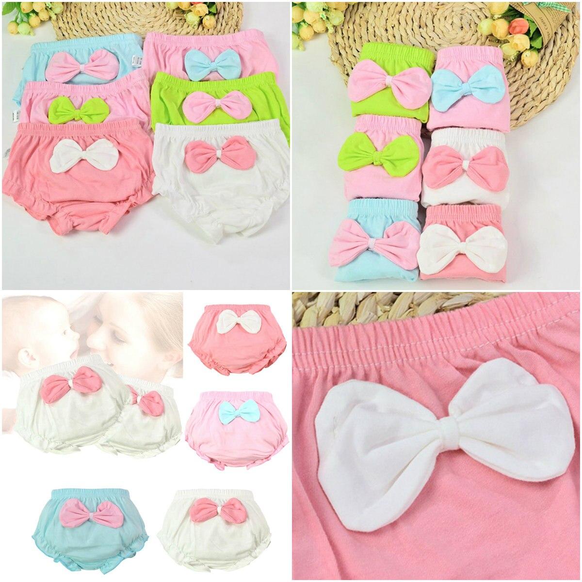 1 Pcs 4 Kleuren Kids Baby Leuke Grote Boog Katoenen Ondergoed Slipje Zuigeling Shorts Voor Kinderen Onderbroek Geschenken