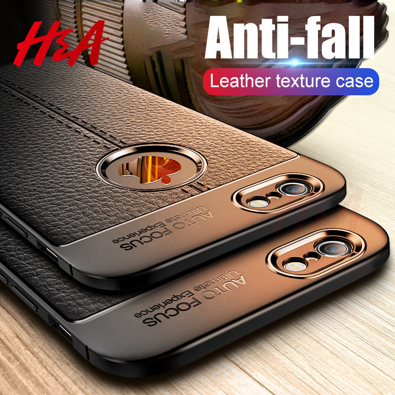 Luxury Leather PU Silicone Soft <font><b>Case</b></font> On The For <font><b>iphone</b></font> 7 8 6 <font><b>6s</b></font> PLus X Full Cover For <font><b>iphone</b></font> X Xr Xs Max Shockproof <font><b>Bumper</b></font> <font><b>Case</b></font> image