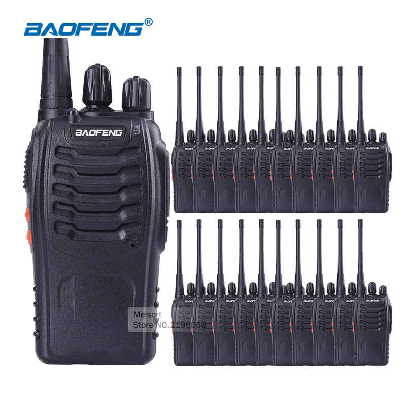 20pcs Baofeng Walkie Talkie with Earpiece BaoFeng 888s UHF Long Range 2 Way Radios Rechargeable Battery