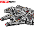 AIBOULLY 79211 Star Series War 1381pcs Building Blocks Force Awakens Millennium Toys Falcon Model Kids Christmas Gits 10467