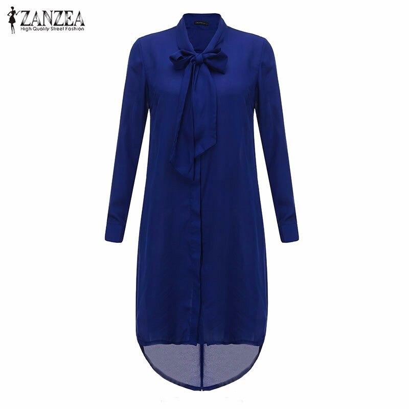 HTB1GfiyLXXXXXXOXpXXq6xXFXXXh - Women Shirt Vestido Bow Long Sleeve Casual Amsymetircal Chiffon