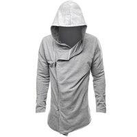 2017 Autumn Brand Male Hoodie Black Grey Zipper Sweatshirt Mens Hooded Cardigan Hoodies Slim Fit Sportswear