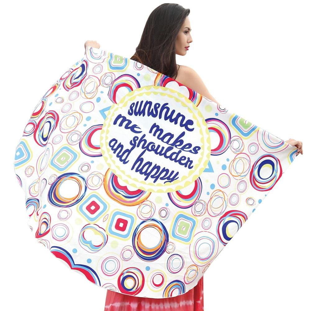 Трансграничной поставка новых Европа и США круглым пляжные полотенца праздник шаль юбка  ...
