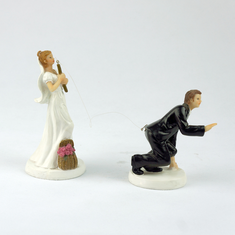 fishing wedding cake toppers humorous free shipping brand new fishing interchangeable 4087