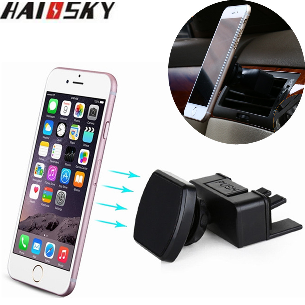 Aliexpress com buy universal car phone holder magnetic air vent cd slot car mount stands for iphone 7 plus 6 6s samsung huawei xiaomi mi5 redmi gps from