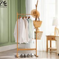 Lanskaya 2018 Perchero De Ropa Modern Bamboo Floor Clothes Tree Bag Hat Rack Coat Hanger Furniture Bedroom Hook Hanging Hooks