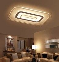 Тонкий Акрил светодиодный потолочный светильник Гостиная Спальня Кабинет лампы офиса и коммерческих потолочный светильник 110 240 В