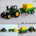 Candice guo! New arrival hot sale farm tractors series haystack transporter alloy model car toy car good for gift 1pc