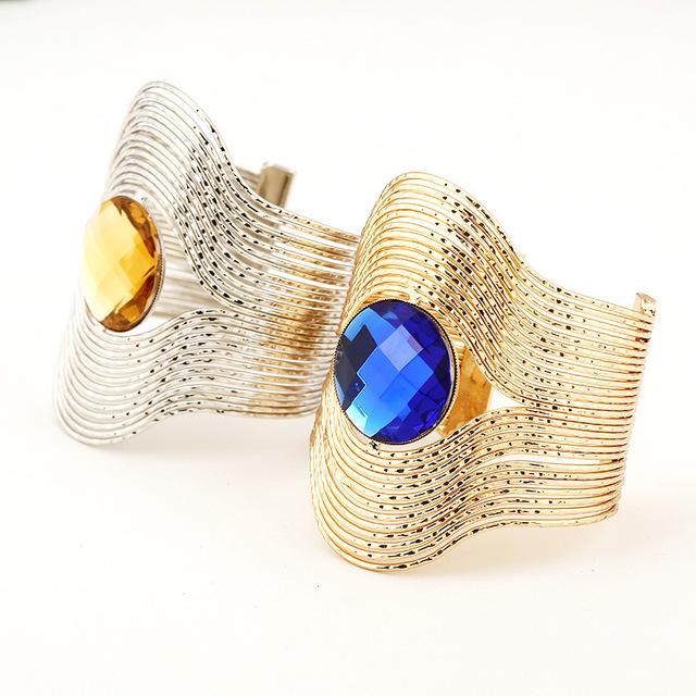 Fashion Crystal Embellished Cuff Bracelet