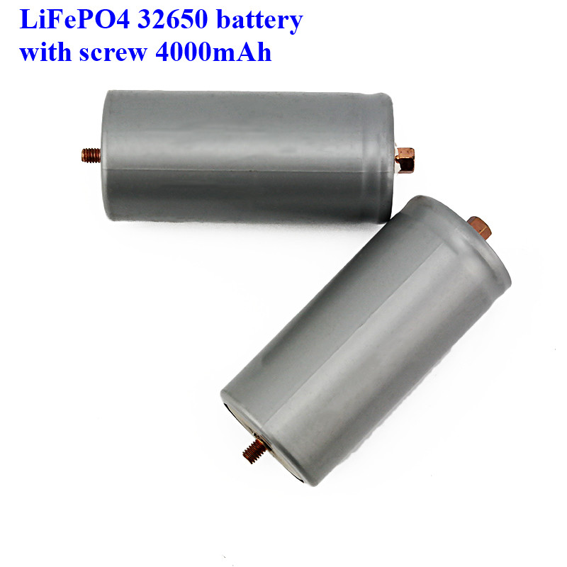 Image 5 - 2pcs a lot screws LiFePO4 battery 32650 4000mAh rechargeable lithium ion cell for Electric bike-in Rechargeable Batteries from Consumer Electronics