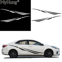 Stickers For Car For Toyota Carola Whole Body Sticker High Quality PVC Waterproof 2pcs White Black Simple Car Decal Car Styling