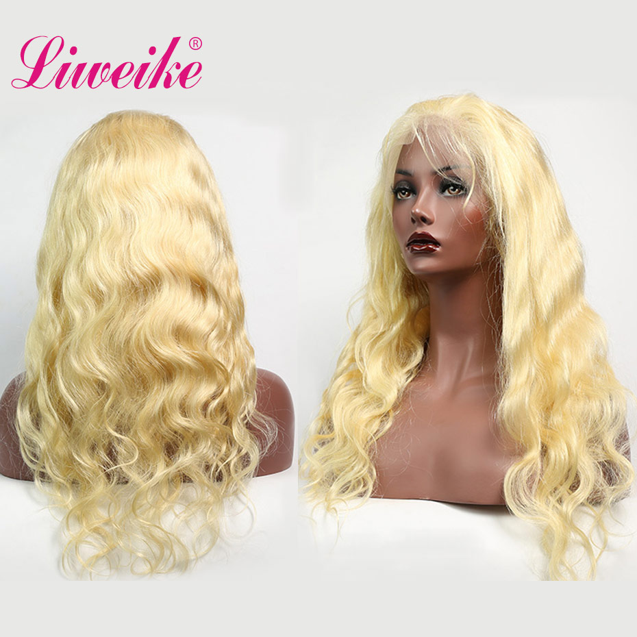 Liweike Hair Full Lace Body Wave 613 Blonde Remy Human Hair Wigs Brazilian 150 Density Pre