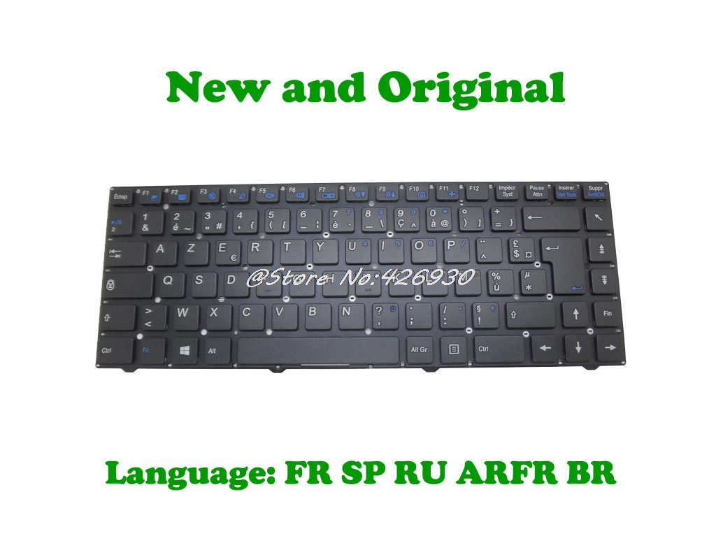 Laptop Keyboard for CLEVO W540EU MP-12B86F0-4303W MP-12B86F0-4306W 6-80-W7400-061-1 France FR Without Frame