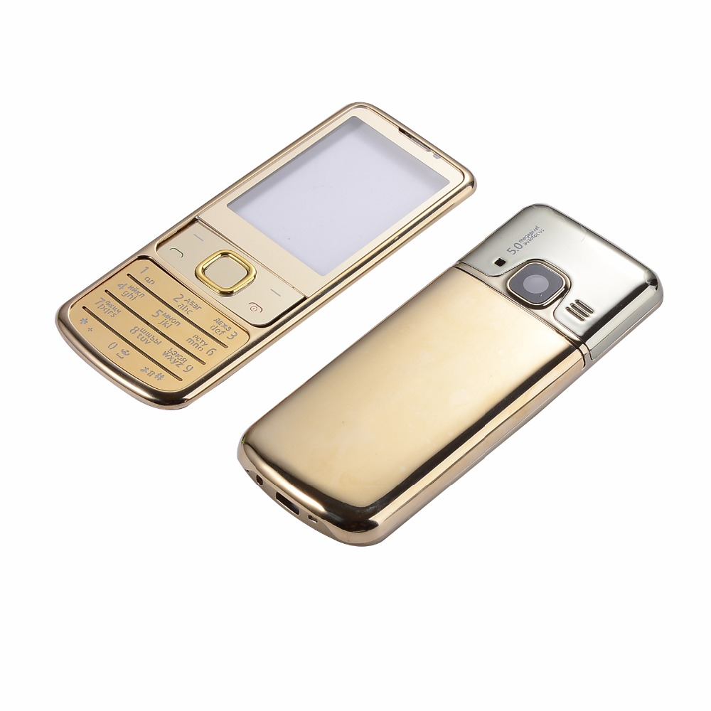 For Nokia 6700 6700C Housing Metal Case Front+Battery Back Cover+Russian Or English Keypad