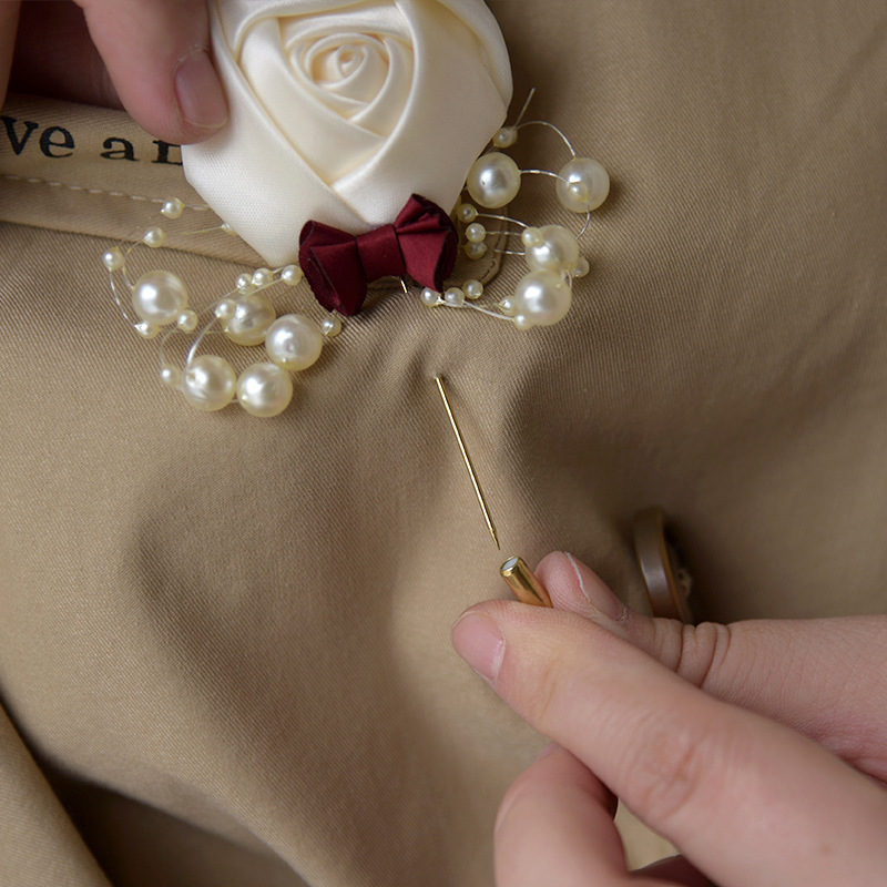 Wedding Boutonnieres Wedding Pearl Prom Corsage Ceremony Flower Brooch Groom Groomsmen Buttonhole Flowers Boutonniere
