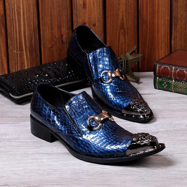 2017 Más Nuevos Zapatos Casuales Los Hombres de Moda de La Boda Del ...