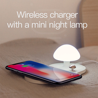 Wireless Charger 10W - QC 3.0 Fast Charging Protocol with touch-sensitive nightlight 7