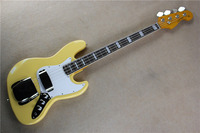Factory wholesale FD 4 string Creamy yellow jazz bass guitar 17 11