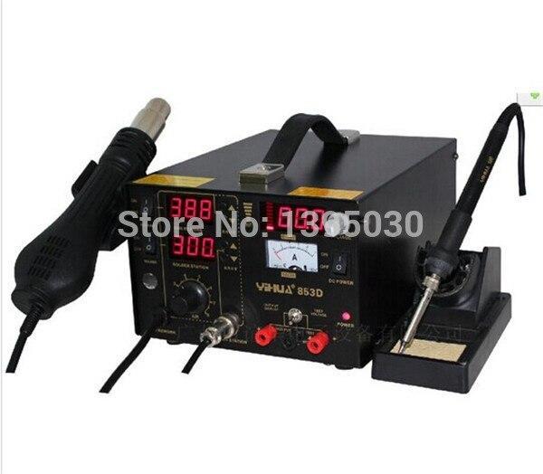 220V 800W 3 in 1 hot air rework soldering station Constant temperature Antistatic Soldering Station Solder Iron YH853D цена