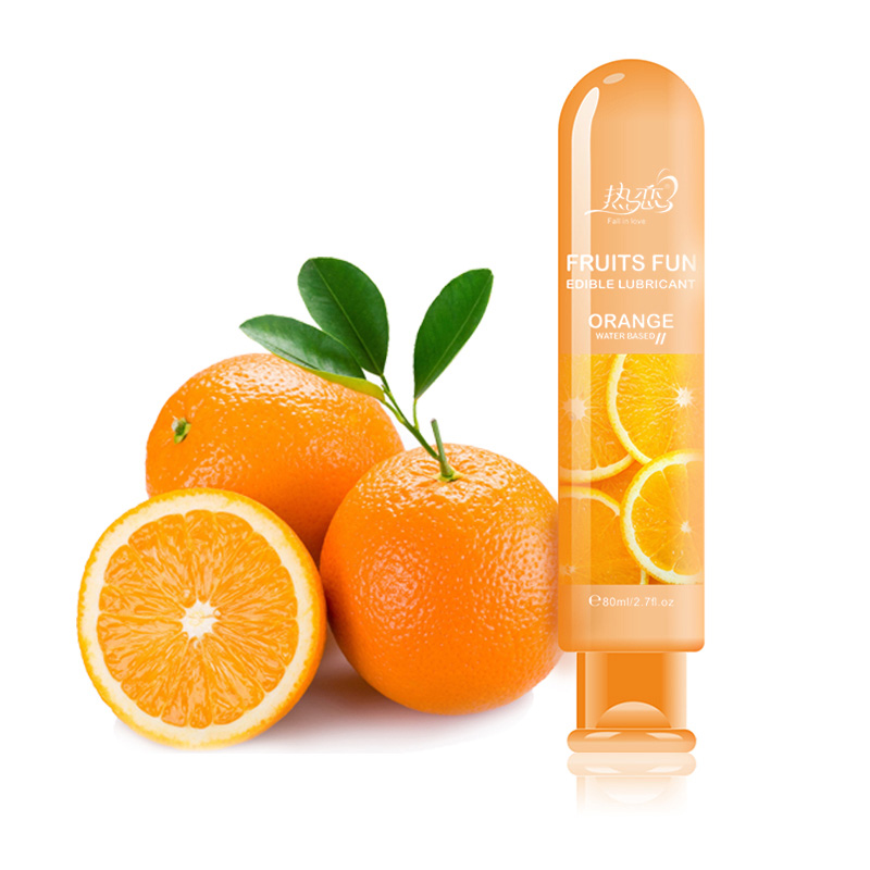 Orange Water Based Lubricant Vagina Anal Sex Lube Gay Lubricante Lube Adult Oil Oral Sex Toys Sexual Massage Oil Products Hot love kiss 100ml strawberry cream anal sex lubricant oral lube vaginal lubrication massage oil sex products
