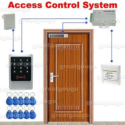 Waterproof Touch Keypad & ID Reader Door Access Control System Lock Power Supply high tech door locks apartment combination lock touch keypad for door access