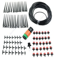 4/7mm Hose 30 Micro Dripper Kit Full Set Sprinkling Water Plants Suit DIY Watering Water Patio Misting Cooling System