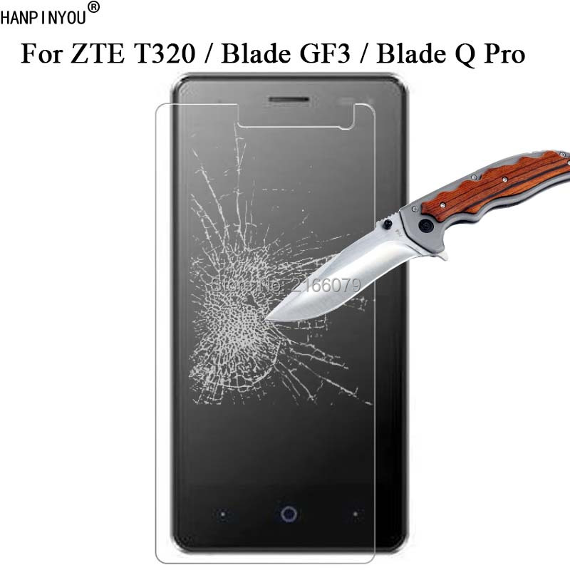 New 9H 2.5D Tempered Glass Screen Protector For ZTE T320 T 320 / Blade GF3 / Blade Q Pro 4.5 Protective Film + Clean Tools