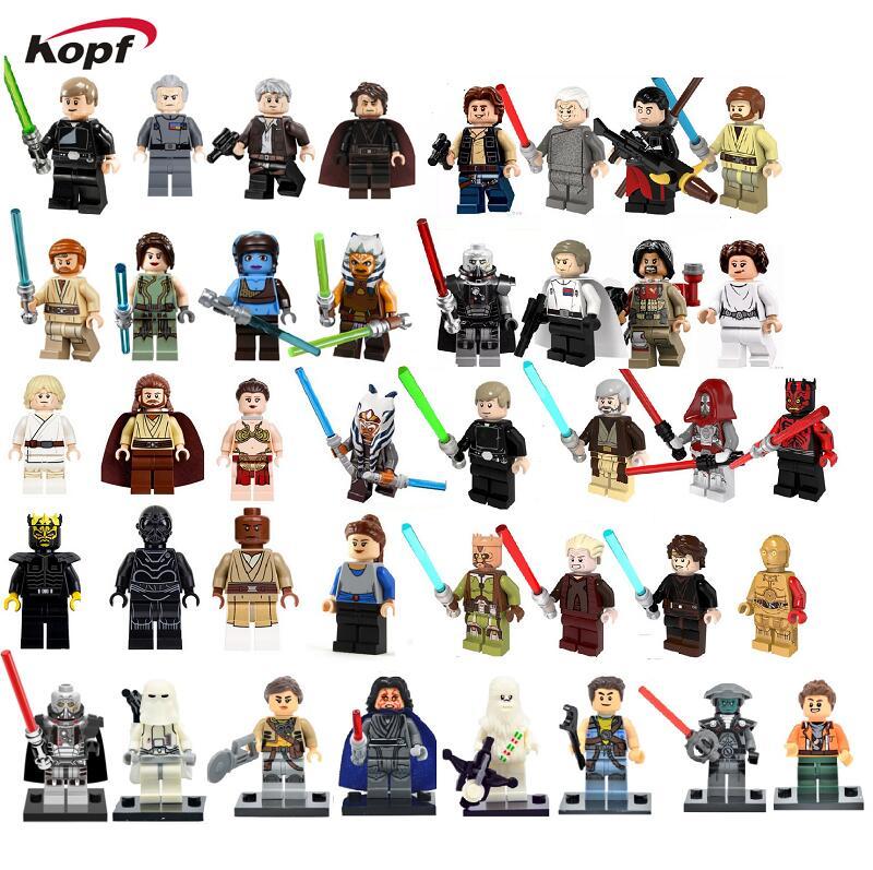 Star Wars  Princess Leia Luke Skywalker Darth Maul Sith Warrior Anakin Jedi Knight Baez Building Blocks Children Toys