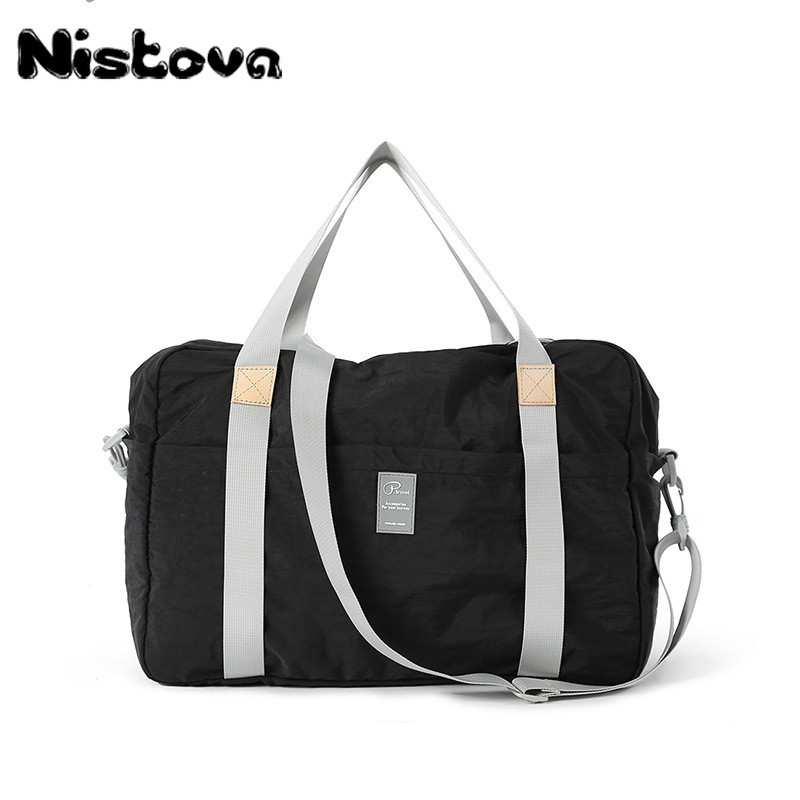 Hot Waterproof Nylon Travel Handbag Men Sports Fitness Bag Fashion Folding Tote Vintage Casual Shoulder Large Yoga Bags