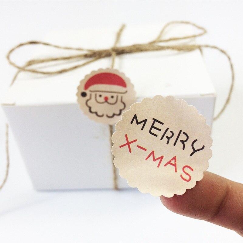 Купить с кэшбэком 120PCS  NEW Vintage Christmas Theme Sealing sticker DIY Gifts posted  Baking Decoration label  Multifunction