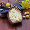 1pc Box Wood Carving Keychain Buddhism Avalokitesvara Pendant Statue Present Car Key Chain For Men woodwork