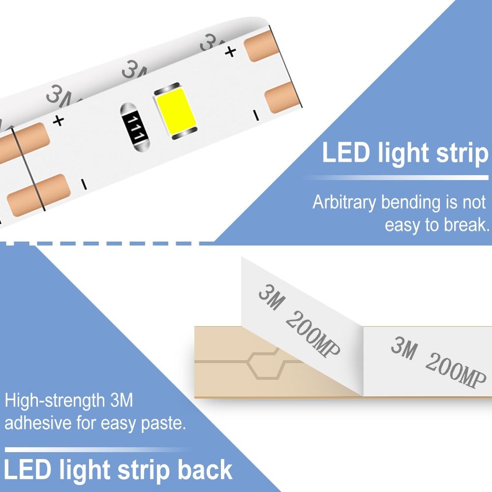 DC 5V USB LED Strip Lamp 2835 Led Backlight TV Flexible Light Tape Neon Ribbon 50CM 1M 2M 3M 4M 5M Fita Ledstrip Decor Lighting in LED Strips from Lights Lighting