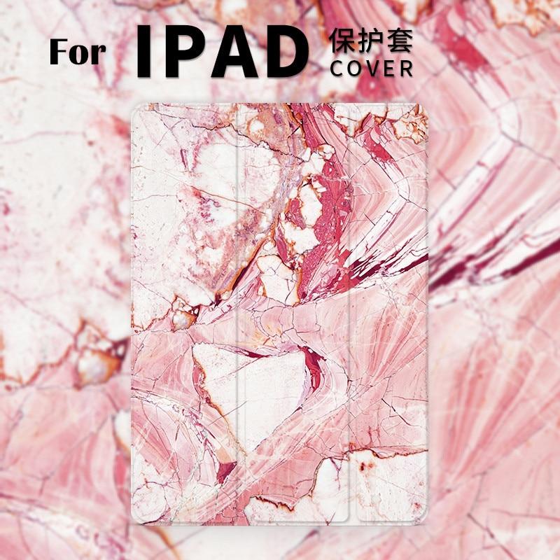 Pink red marble Mini4 Mini3 Magnet Flip Cover For iPad Pro 9.7 10.5 Air Air2 Mini 1 2 3 4 Tablet Case for new ipad 9.7 2017 personal cartoon boat mini4 mini2 mini3 lovers flip cover for ipad pro 9 7 air air2 mini 1 2 3 4 tablet case protective shell