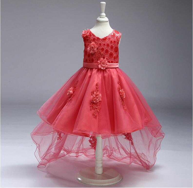 Sleevess Vestidos de flores de niña para bodas hasta la rodilla ...