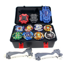 New Beyblade Burst Set Toys Beyblades Arena Bayblade Set Metal Fusion Fighting Gyro 4D with Launcher Spinning Top Blades Toys spinning top gyro toy set color assorted