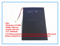 A Factory Direct Products Tablet Battery 3 7V 5000mah 10 Inch Tablet PC Built In Battery