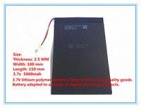 Una fábrica de productos directos de la tableta de la batería 3.7 V 5000 mah 10 pulgadas Tablet PC incorporada de la batería 25100150