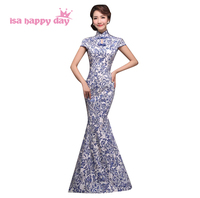 Formal high neck neuheiten frauen lange mermaid kleider vintage abendkleid 2018 kleider china für besondere anlässe W2964