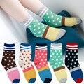 Fasion Casual Brand Designer Polka Dot Women Socks Lot Striped Patchwork Block Colorful Socks Funny Happy Socks meia calcetines