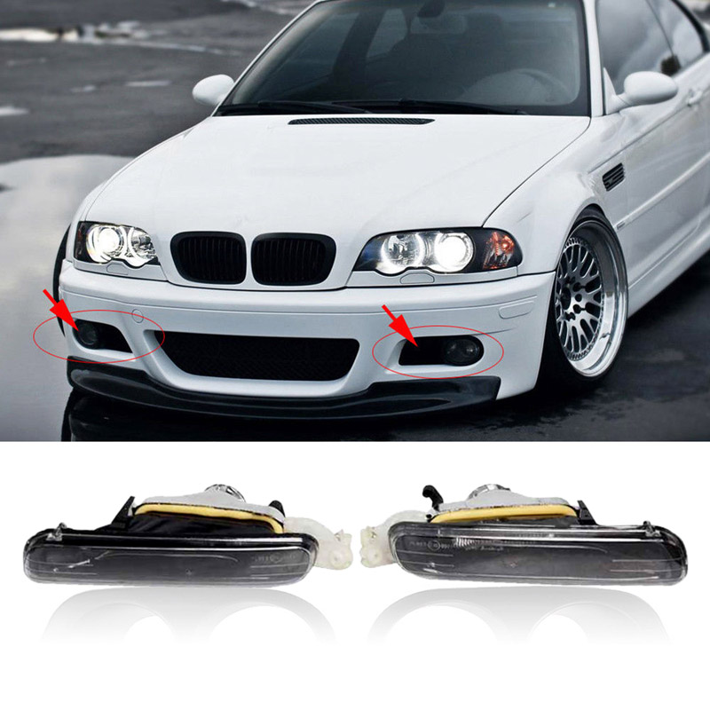 1 Pair Left & Right Fog Lights Driving Lamps Fit For E46 4DR 99 01 3 Series