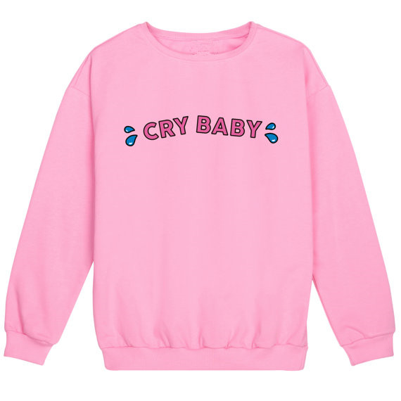 Cry Baby Jumper Womens Sweatshirt Tumblr Kawaii Pink Cotton Soft Harajuku Hipster Funny Tear Grunge Plus Size Hoodies ...