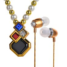 Necklace Earphone Bluetooth Clothes Ornament Stereo Handfree Wireless Headsets Fashion Headphones V4.1 MIC Music Play for Phones(China)