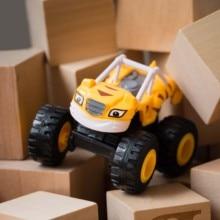 1 шт. Blaze автомобиль игрушки 1: 64 автомобилей литая игрушка машина монстров ПВХ Автомобиль инерционный автомобиль четыре колеса тянуть назад трюк автомобиль