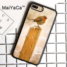 MaiYaCa Snow Bird Animal Printed Cover For iPhone 8plus Luxury Housings Soft TPU