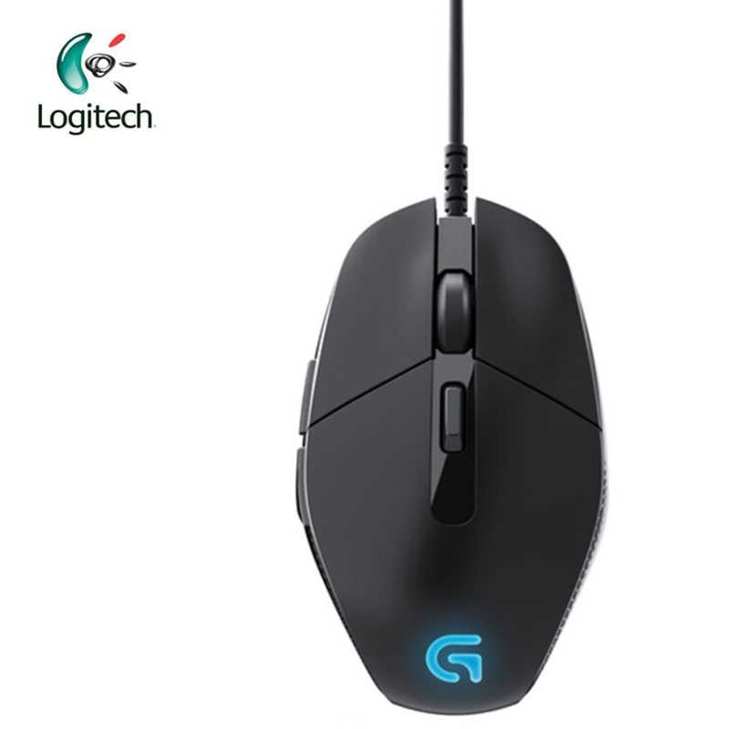 G302 Logitech Wired Gaming Mouse dengan Bernapas Cahaya untuk Game PC Windows10/8/7 4000 DPI USB Antarmuka dukungan Kantor Verifikasi