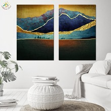 Landscape Mountains Love Wall Art Canvas Poster and Print Scroll Painting Nordic Decoration for Home