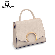 LIANGBOYI Bags Handbags Women Famous Brands Luxury Designer Serpentine Shoulder Crossbody Bag High Quality PU Leather Party Bags