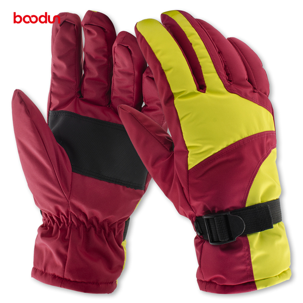 Mens winter gloves xxl - Boodun Winter Gloves Sports Gloves Windproof Waterproof Plus Velvet Thick Warm Gloves Five Finger Gloves Men Women