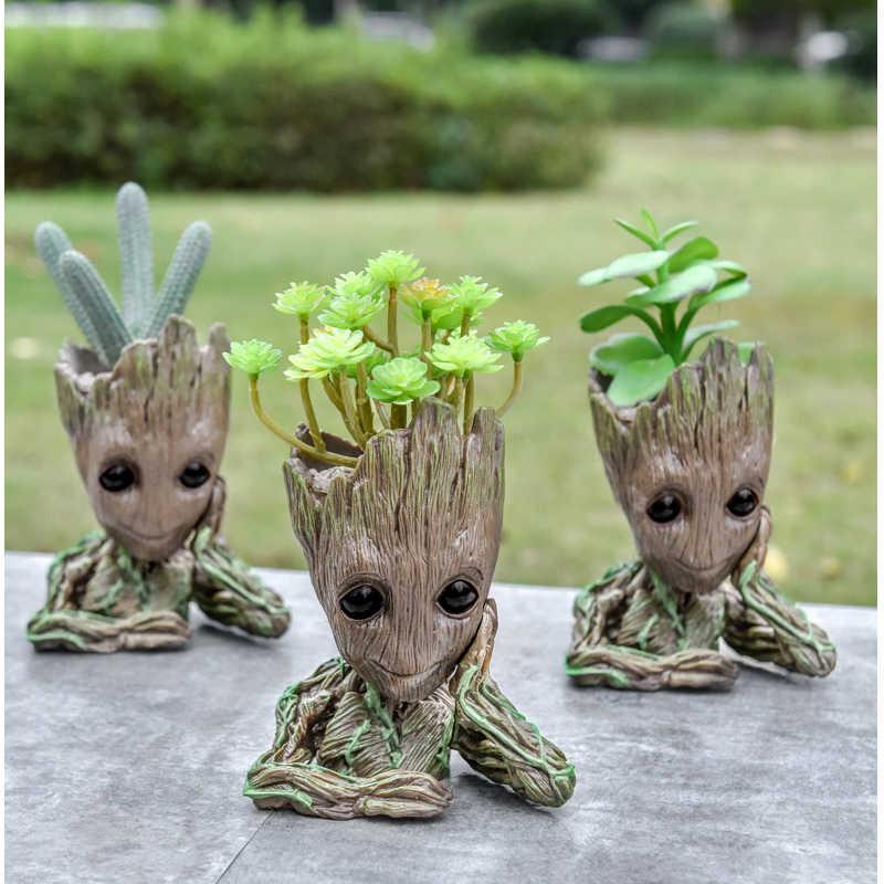 Blume Topf Baby Groot Blumentopf Pflanzer Action-figuren Baum Mann Modell Spielzeug Für Kinder Stift Halter Kreative Garten Blume Pflanzer topf
