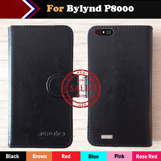 Hot!! In Stock Bylynd P8000 Case 6 Colors Ultra-thin Dedicated Leather Exclusive For Bylynd P8000 Phone Cover+Tracking